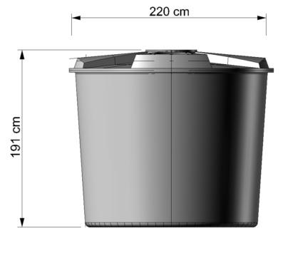 Contenedor redondo 5 000 litros de 220x191cm - Contenedor de agua ...
